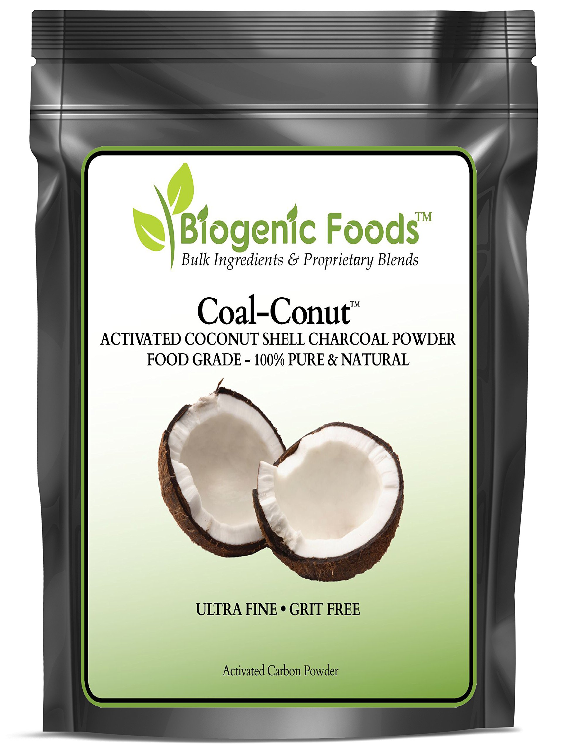 Coal-Conut (TM) - Activated Coconut Shell Charcoal Fine Husk Food Grade Powder (Ultra-Fine) - Organic Approved, 5 lb
