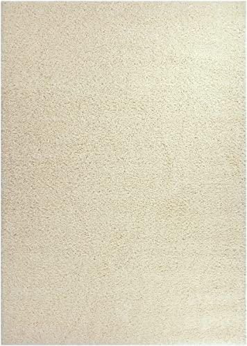 RugStylesOnline Soho Shaggy Collection Solid Shag Area Rug Rugs, 7 Color Options, Ivory