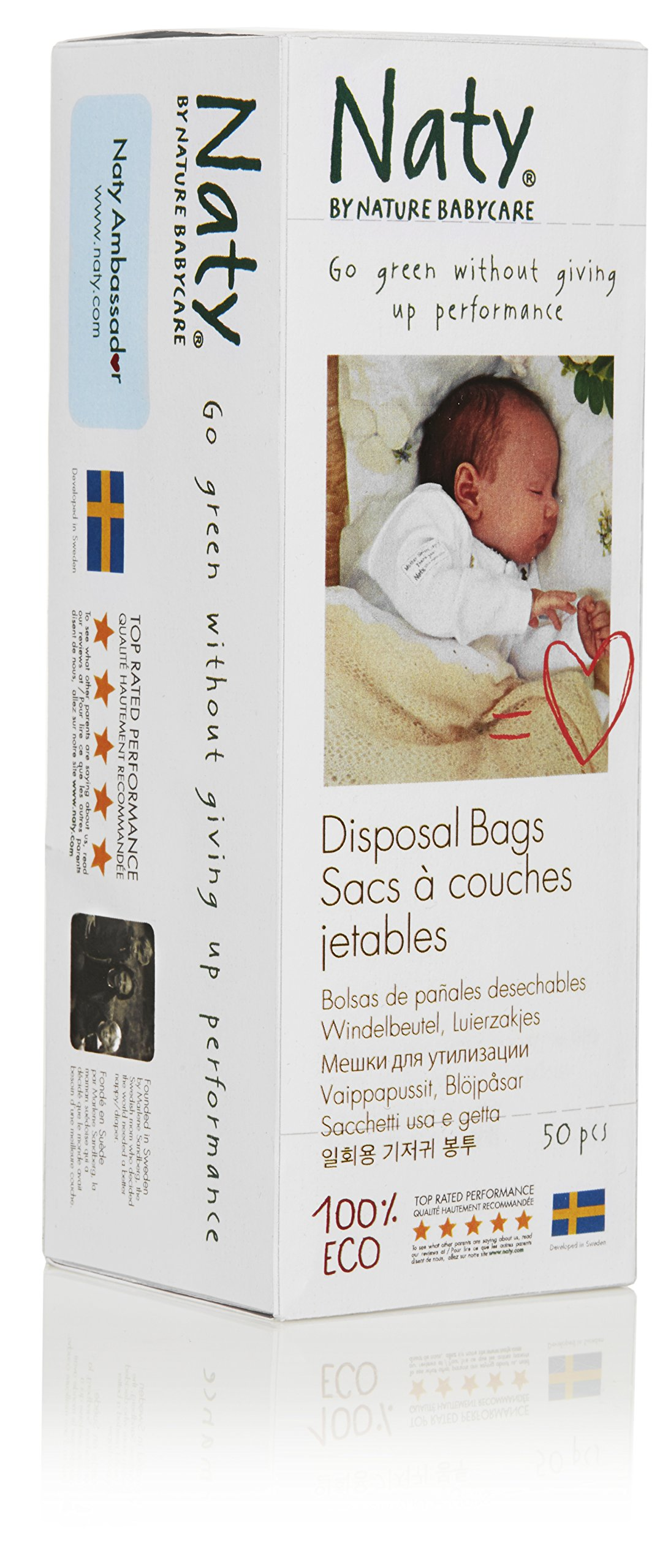 Naty by Nature Babycare Biodegradable Diaper Disposal Bags, 15 Boxes of 50 (750 Count)