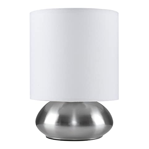 Chrome touch table lamp with white shade amazon lighting chrome touch table lamp with white shade aloadofball Choice Image