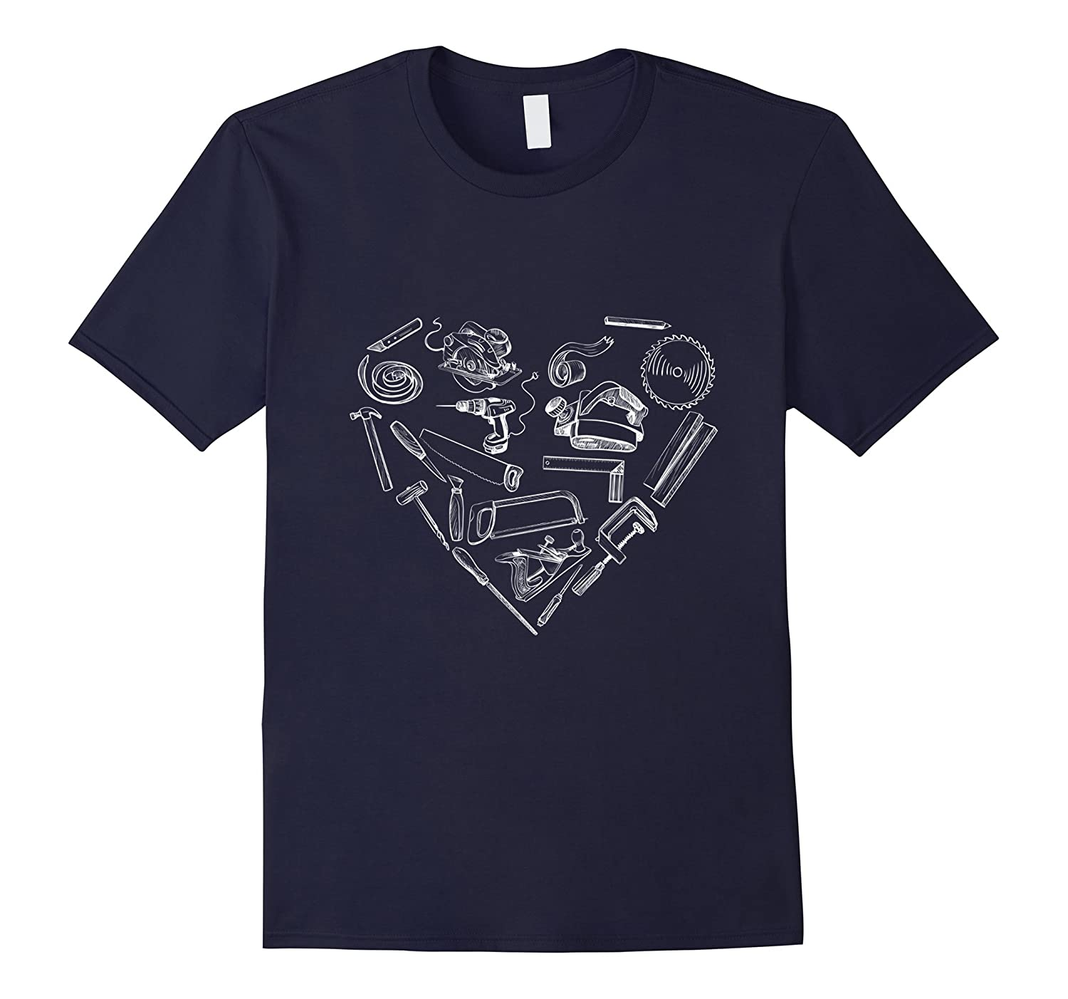 Woodworker Heart Woodworking Gift T-Shirt-TH