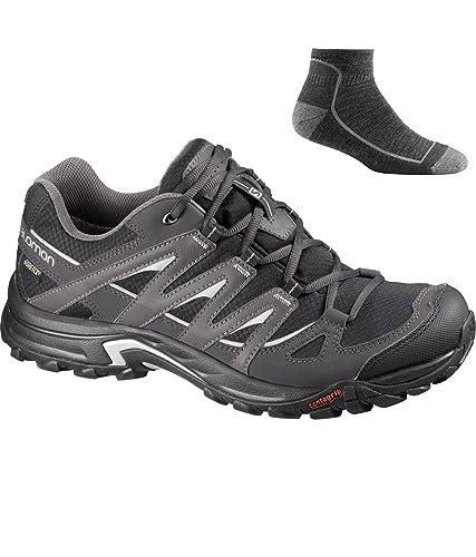 Salomon Men's Eskape GTX Hiking Shoe BlackAsphaltAluminum wSock 9.5