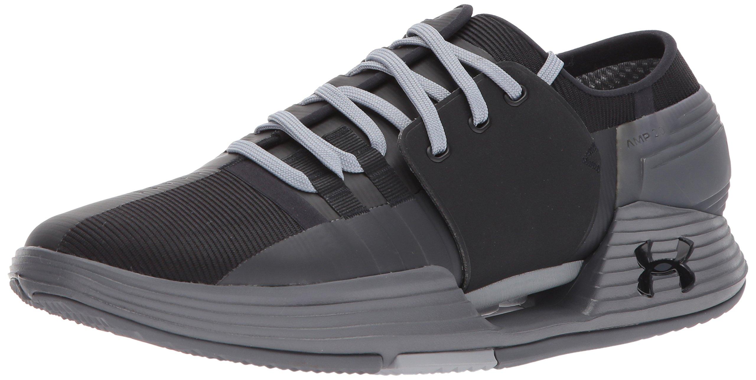 Under Armour Men's Speedform Amp 2.0 Sneaker, Black (003)/Graphite, 10.5 by Under Armour