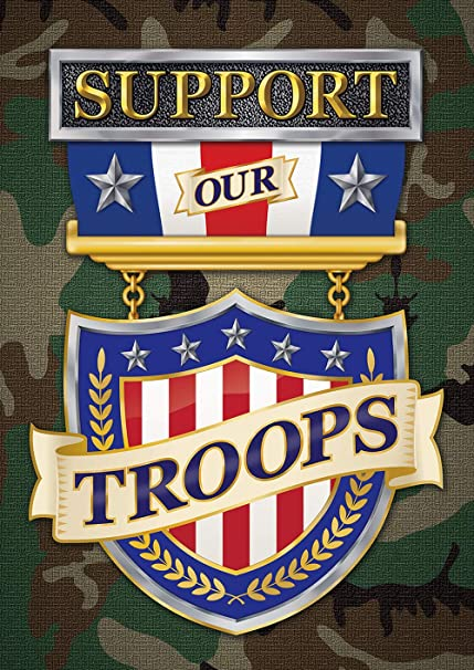 Amazon Com Toland Home Garden 1012388 Support Our Troops 28 X 40 Inch Decorative House Flag 28 X 40 Garden Outdoor