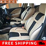 Autofact AF07 PU Leather Car Seat Covers Ford Ecosport (Beige / Black)