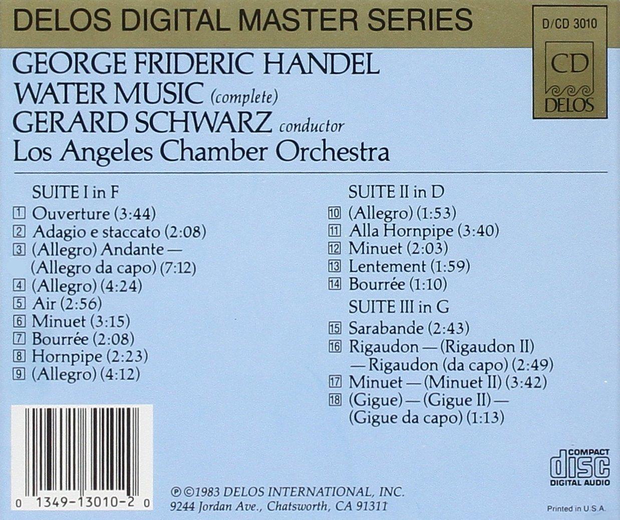 Handel, Gerard Schwarz, Los Angeles Chamber Orchestra, Susan Ranney ...