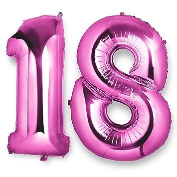 Globos número 18 foil helio para la decoración fiesta de ...