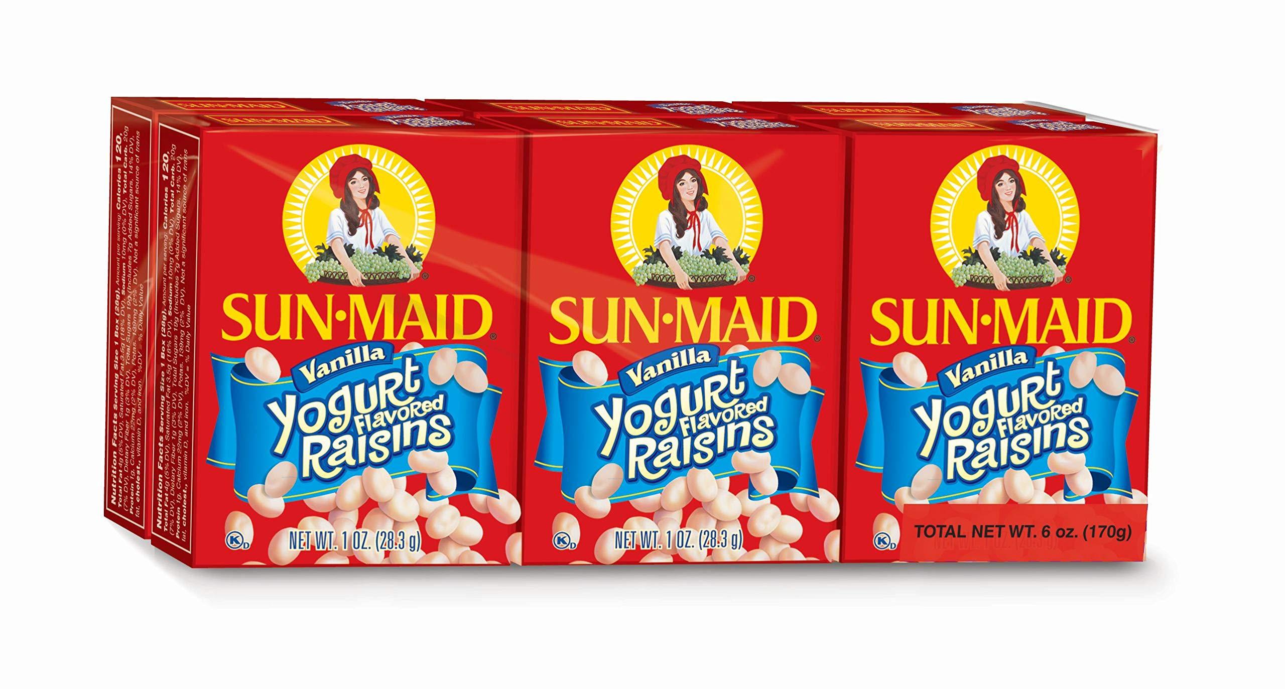 Sun-Maid Vanilla Yogurt Raisins, 1-Ounce (6 Count)