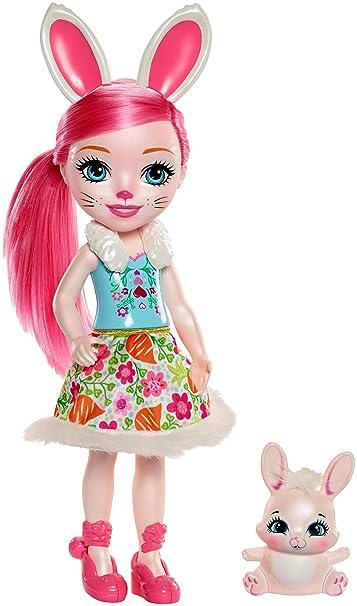 Enchantimals Huggable Cuties Bree Bunny Doll & Twist Figure