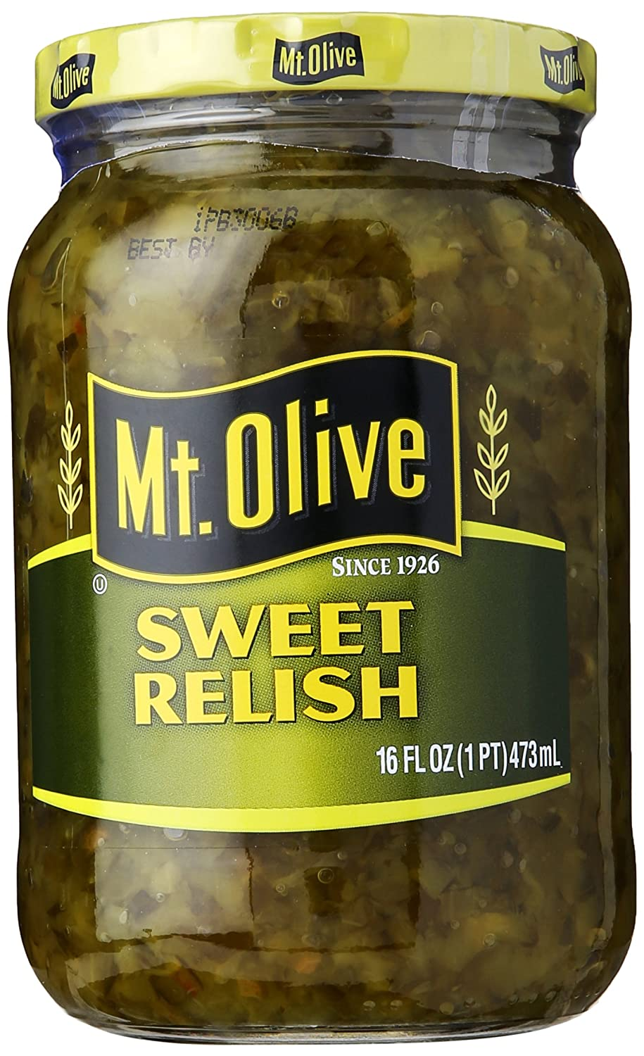 Amazon Com Mt Olive Sweet Relish 16 Oz Pickle Relishes Grocery Gourmet Food