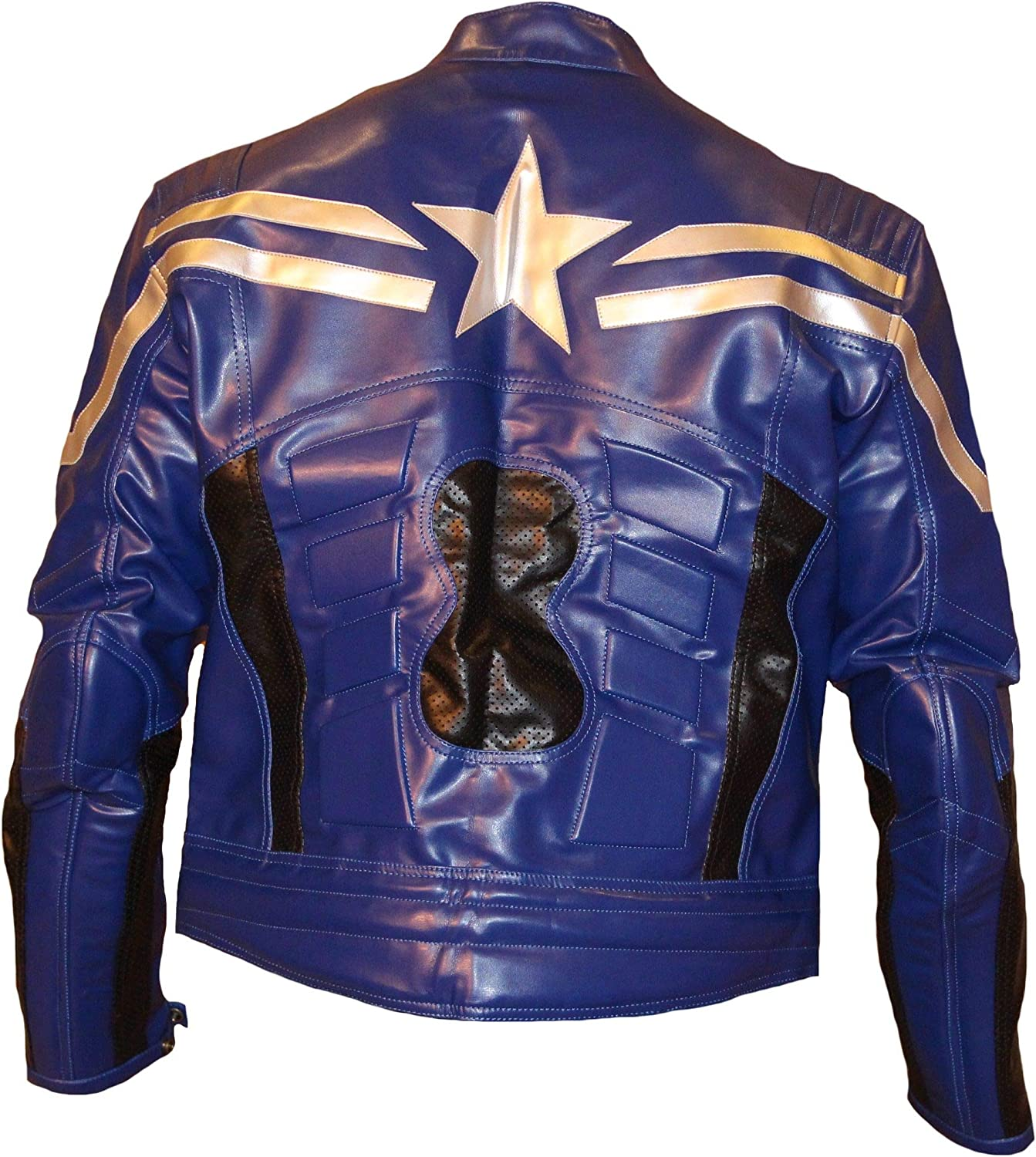 Stormwise Mens Winter Soldier Leather Jacket Blue
