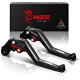 MZS Adjustment Brake Clutch Levers for Suzuki GSXR600 2006-2010,GSXR750 2006-2010,GSXR1000 2005-2006 Black