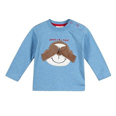 De neopreno corto para niños Bluezoo peluches de animales azul y negro diseño de mono de
