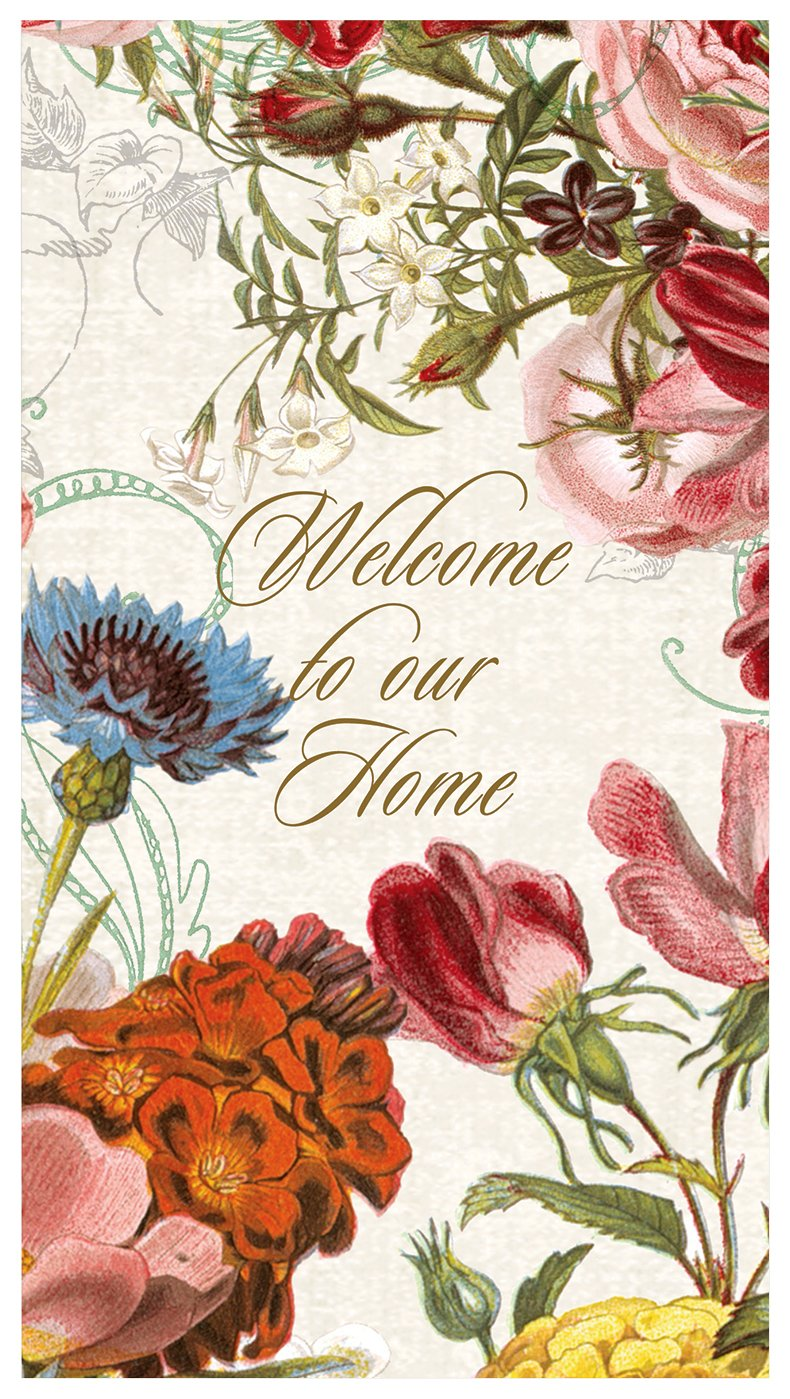 Michel Design Works 15-Count 3-Ply Paper Guest Hand Towels, Floral -  Welcome to Our Home