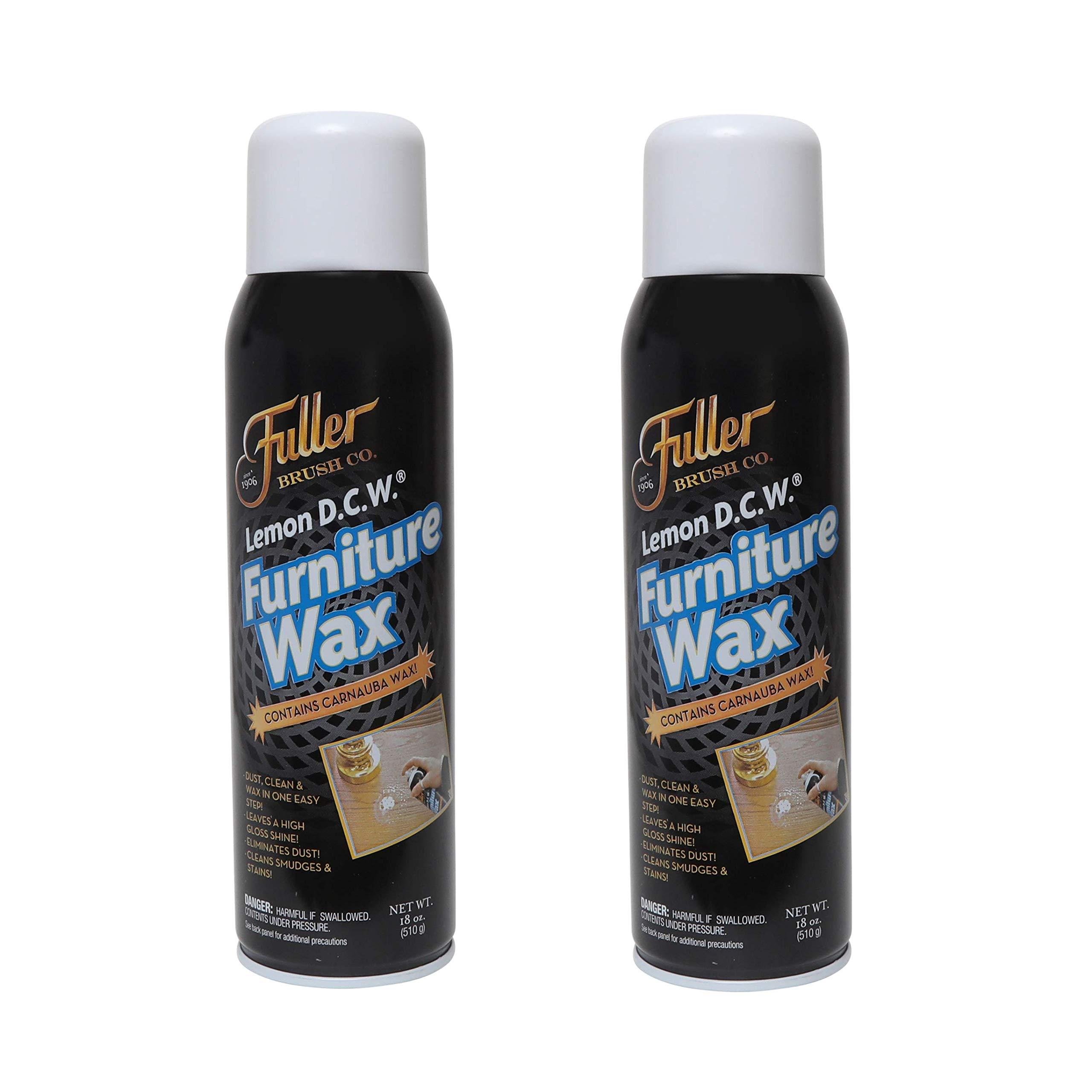 Fuller Brush Lemon D.C.W. Furniture Wax - Dust, Clean & Wax in One Spray - 18 oz. - 2 Pack by Fuller Brush