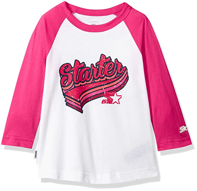 Starter Girls\u0027 Distressed Logo Baseball T,Shirt, Amazon Exclusive