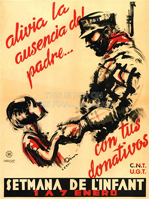 VIVO PRINTS WAR PROPAGANDA SPANISH CIVIL SOLDIER SPAIN ANTI ...
