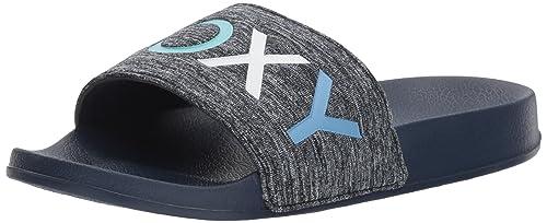 RoxyARJL100718 - Zapatillas sin talón con Banda de Tela para Mujer, Azul (Marino), 9 B(M) US: Amazon.es: Zapatos y complementos