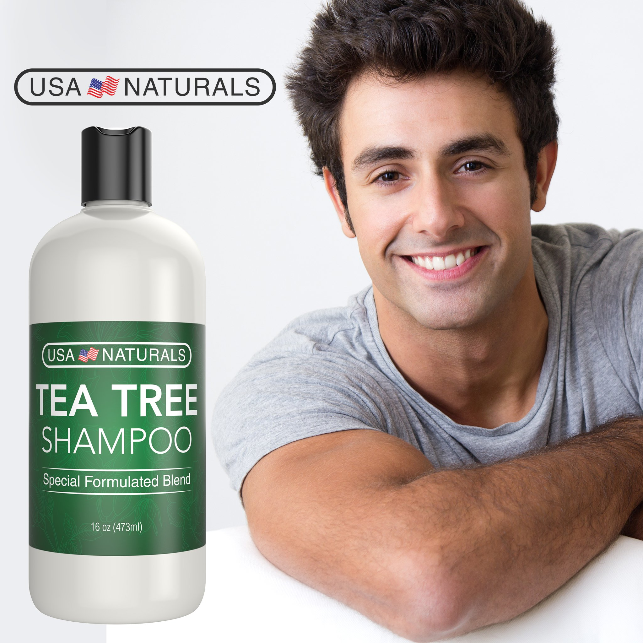 Tea Tree Oil Shampoo Sulfate-Free: Revitalize Hair, Combat Hair Loss and Cleanse Scalp with Naturally-Sourced Ingredients - Pure Tea Tree Oil, Organic Argan Oil, Organic Green Tea (Tea Tree Shampoo) by USA Naturals (Image #6)