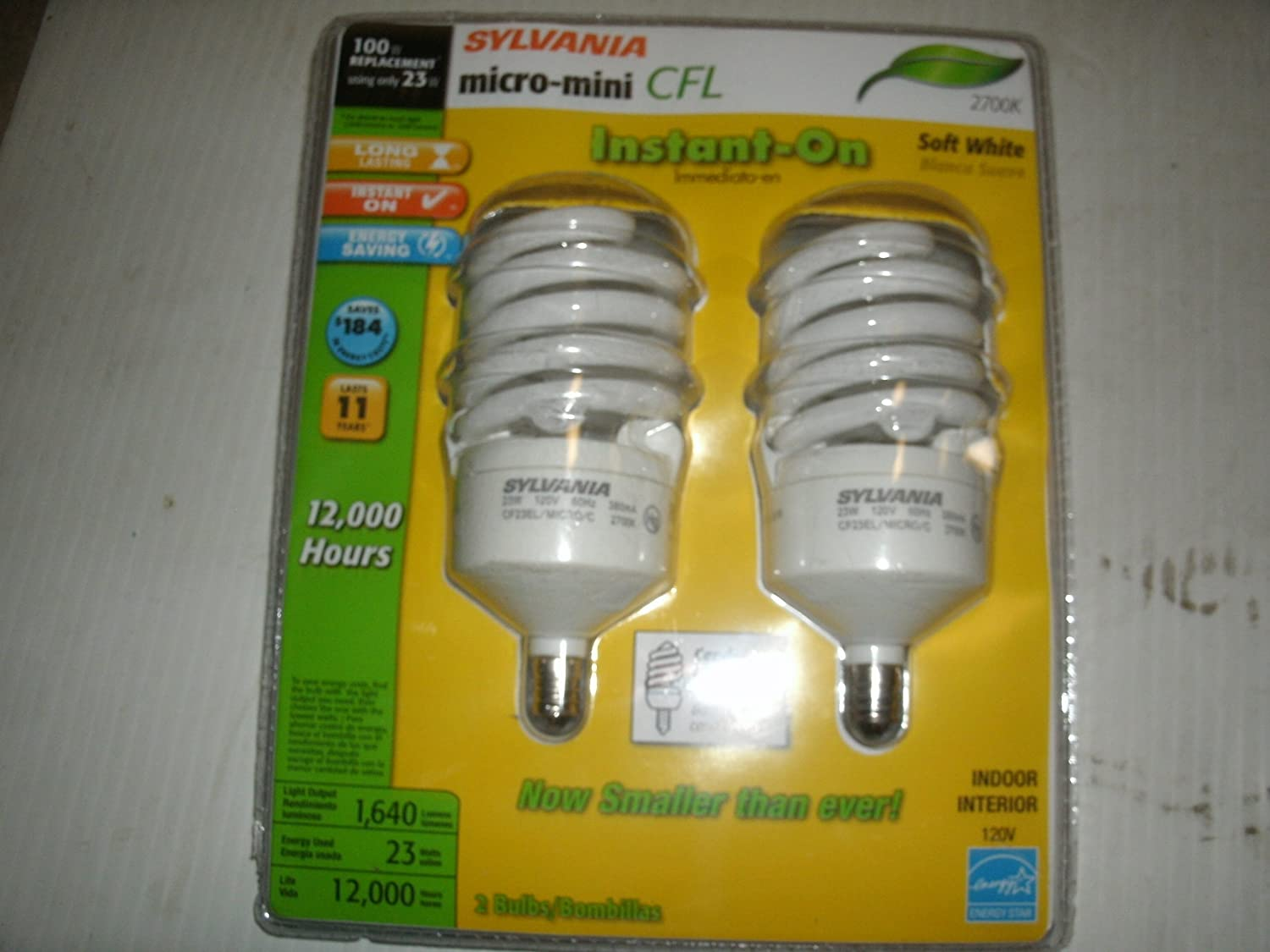 Sylvania 2 pack 23 watt 100w spiral candelabra base soft white sylvania 2 pack 23 watt 100w spiral candelabra base soft white 2700k cfl bulbs item89927 model26904 upc 046135269066 compact fluorescent bulbs arubaitofo Image collections