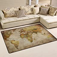 Sunlome Vintage Old World Map Pattern Area Rug Rugs Non-Slip Indoor Outdoor Floor Mat Doormats for Home Decor 60 x 39 inches