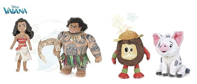 Amazon.com: Moana (Disney) – Juego de 4 juguetes de peluche ...