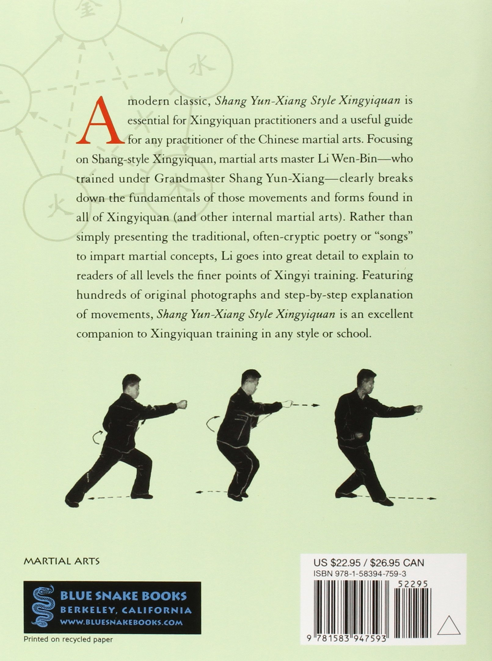 Shang Yun-Xiang Style Xingyiquan: The Foundations and Subtleties of Xingyiquan  Training: Li Wen-Bin, Shang Zhi-Rong, Li Hong, Lu Mei-Hui: 9781583947593:  ...