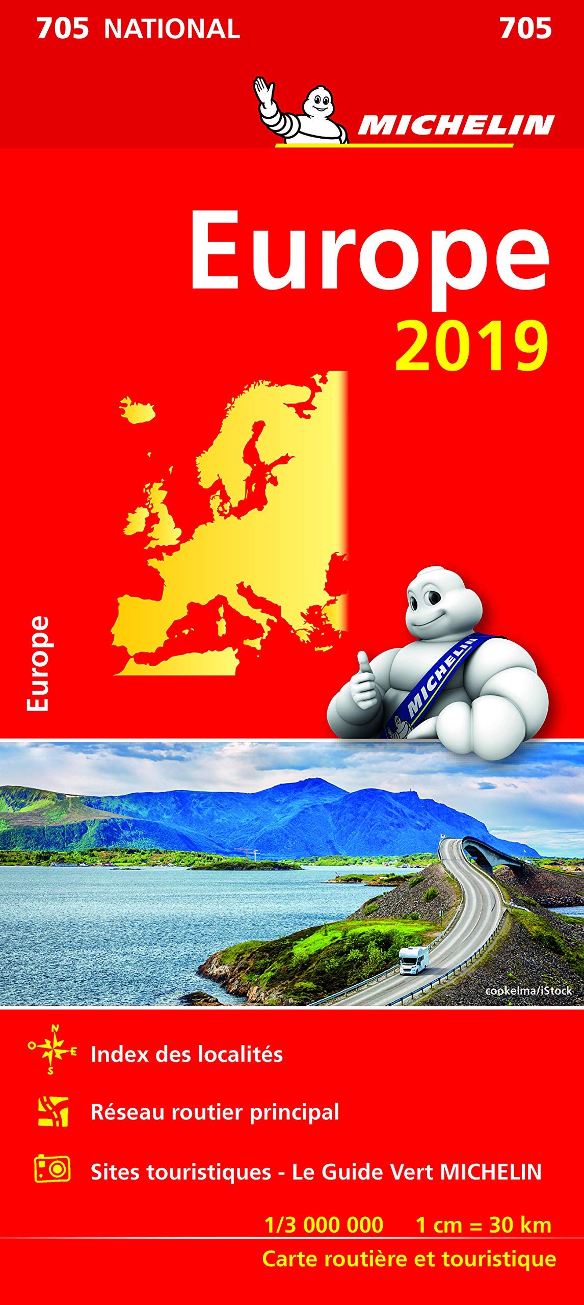 Carte Routiere Europe 2019.Amazon Fr Carte Europe Michelin 2019 Michelin Livres