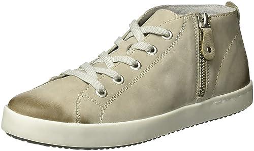 Rieker womens Low shoes WhiteGreyMarbleOffwhiteBrown