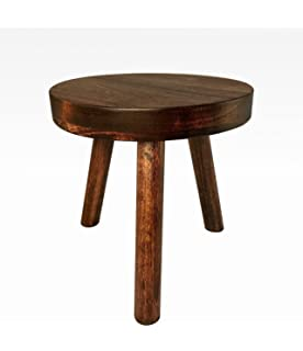 Small Wood Three Legged Stool, Modern Plant Stand, Choose Finish By  Candlewood Furniture,