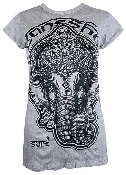 Sure Clothing Camiseta Mujer Ganesha Dios Elefante Yoga ...