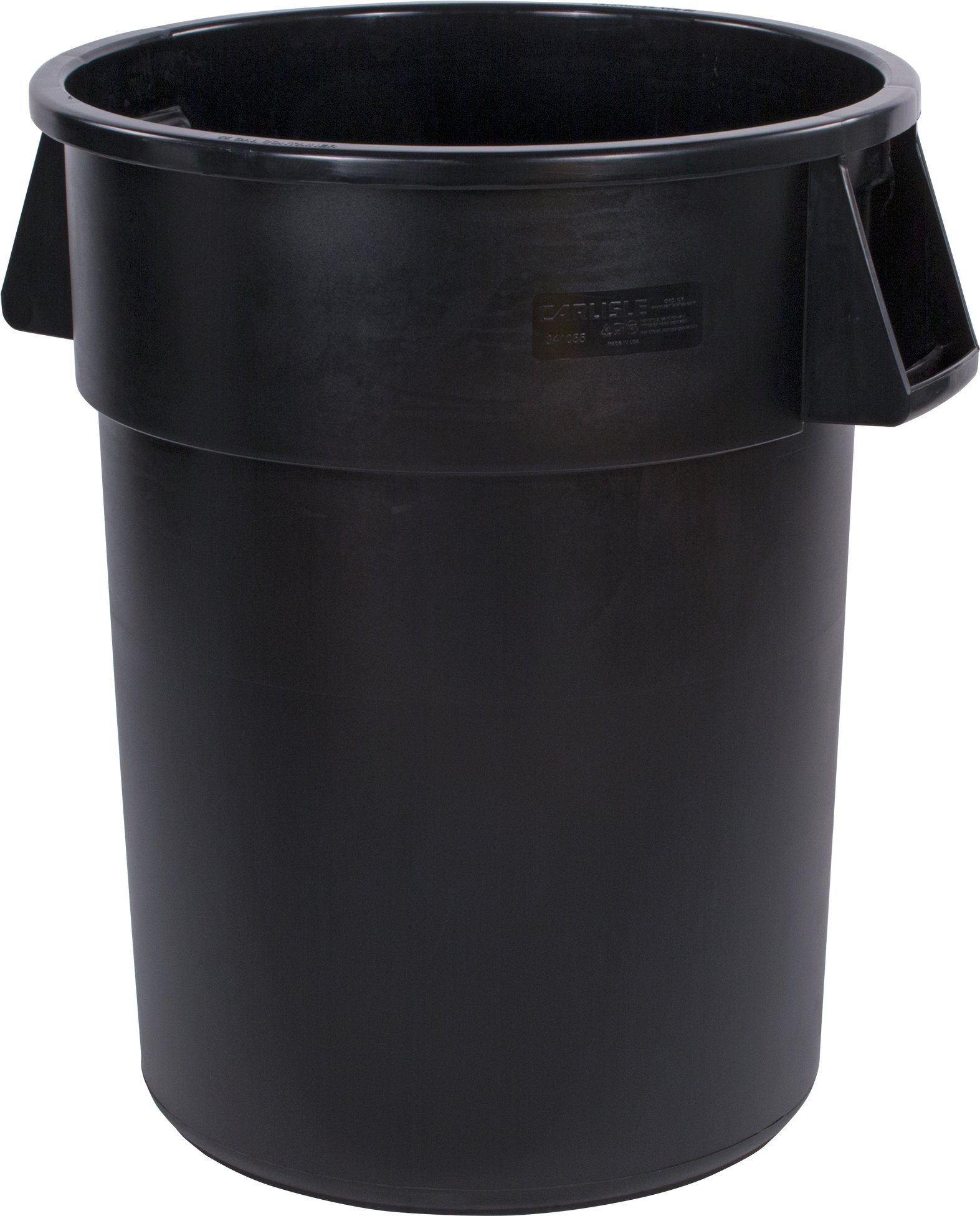 Carlisle 34105503 Bronco Round Waste Container Only, 55 Gallon, Black (Pack of 2)
