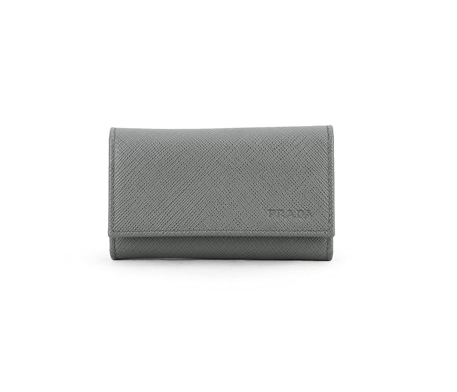 f2d84f930fad Prada Saffiano Leather Key Holder Wallet, Mercurio (Grey) at Amazon Women's  Clothing store:
