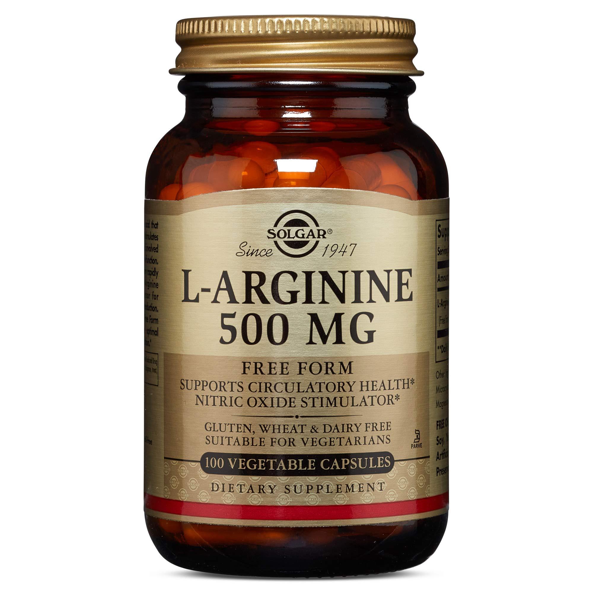 Solgar - L-Arginine 500 mg, 100 Vegetable Capsules by Solgar