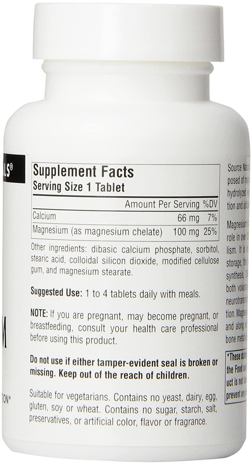 Amazon.com: Magnesium Chelate 100 mg 250 Tablet (Pack of 3): Health & Personal Care