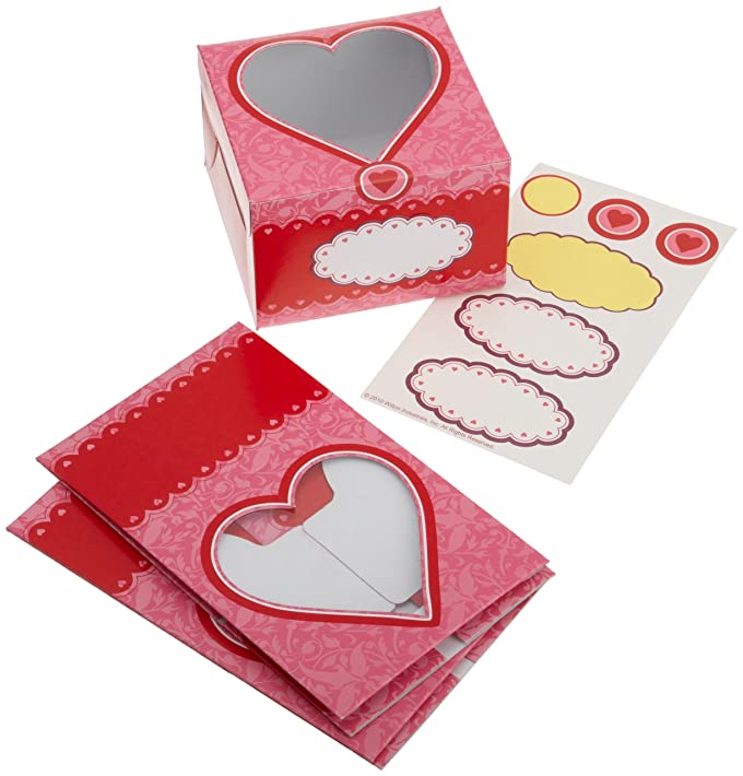 Amazon.com: Wilton 1 Cavity Valentine Treat Box, 3 Count: Novelty ...
