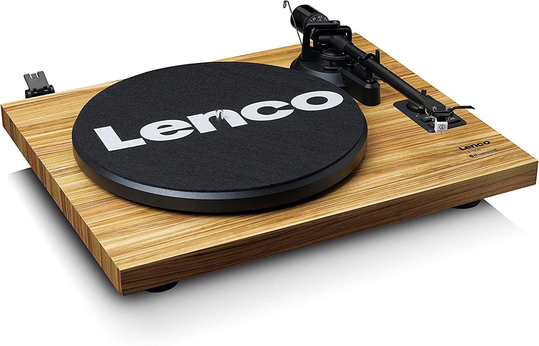 Giradischi Lenco Wood Ls-500 Con 2 Diffusori Separati Bluetooth 2x30 Watt