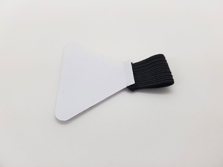 adesivi fettucce nere, cuscinetto adesivo trasparente 10 anelli porta penna elastici ideali per quaderni