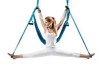 Amazon mymex aerial yoga swing hammock sling kit with 2x50 mymex aerial yoga swing hammock sling kit with 2x50 inches extension straps daisy fandeluxe Choice Image