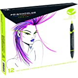 Prismacolor 1773297 Premier Double-Ended Art Markers, Fine and Brush Tip, 12-Count