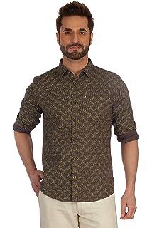 d25e0c99103d BERGAMO Men's Casual Cotton Solid Shirt - Oxford Chambray: Amazon.in ...