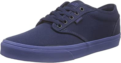 Vans Atwood Men Shoes (Check Liner) Dress Blue Sneakers