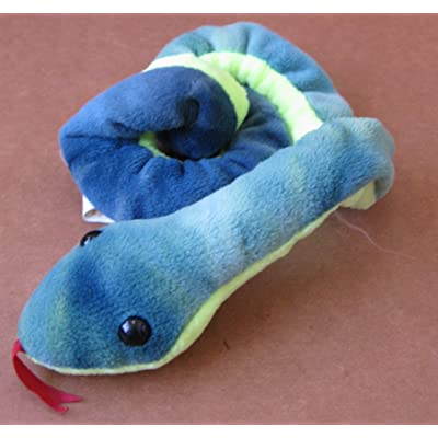 G120466019 TY Beanie Babies Hissy The Snake Plush Toy Stuffed Animal: Toys & Games