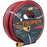 "Truper MAN-15X1/2X, Manguera armada super reforzadas 4 capas, conexiones metálicas, 1/2"", 15 m"