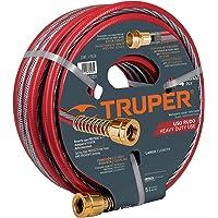 """Truper MAN-15X1/2X, Manguera armada super reforzadas 4 capas, conexiones de latón, 1/2"""", 15 m"""