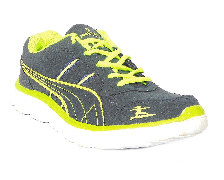 RECSIN Men Navy/P.Green Sports Shoes