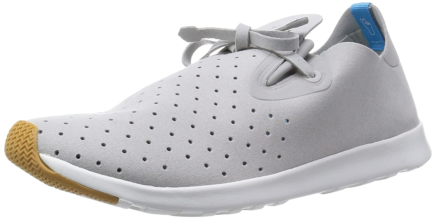 Native Unisex Apollo Moc Fashion Sneaker. B00L5KHFPC 15 B(M) US Women / 13 D(M) US Men|Pigeon Grey/Shell White