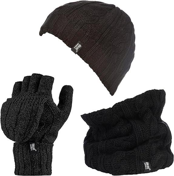 Thermal Gloves Ladies Grey Marl Microfleece Felt Winter One Size