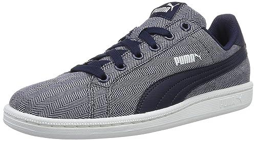 Puma Unisex Adults Smash Herringbone Low-Top Sneakers  Amazon.co.uk ... 075f49460