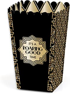 product image for Big Dot of Happiness Roaring 20's - 1920s Art Deco Jazz Party Favor Popcorn Treat Boxes - Set of 12